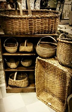 A Collection of Antique American Baskets.~♥~