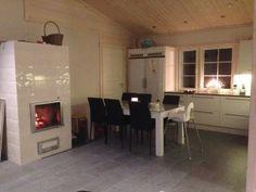 #loghouse #tulikivi #fireplace