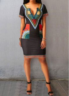African Dashiki Dress for women