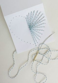 How to Make Hand Sewn Greeting Cards Use Baker's Twine to Make a Gorgeous DIY Card for Valentine's Day Mother's Day, or Any Other Holiday Destination Decoration Diy Gifts For Girlfriend, Diy Gifts For Mom, Diy Gifts For Friends, Diy Mothers Day Gifts, Grandparent Gifts, Ideas For Mothers Day, Simple Gifts, Kids Gifts, Valentine Day Cards