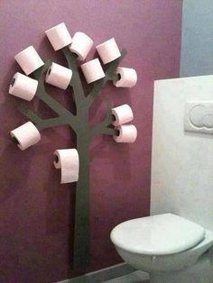 PORTA PAPEL | Um jeito descontraído de armazenar o papel higiênico.