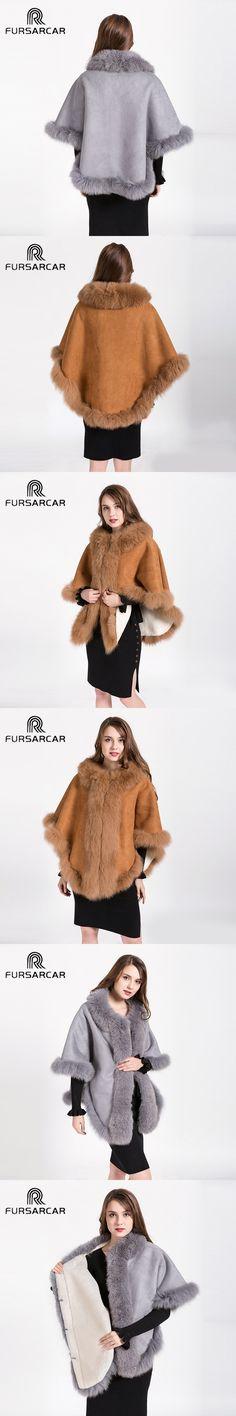 Genuine Shawls Fox Fur Collar Cape Female Free Size Fashion Real Fur Ponchos Women's Capes Luxury Shawls and Scarves BF-C0492