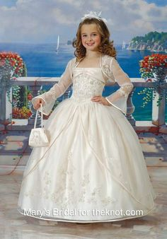 Ball Gown Satin, Tulle Square Flower Girls Dresses Style F617