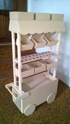 Mesa de dulces carrito con dulces para tu evento by for Mesa carro bar madera