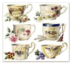 Miniature Printables - Tea Cups