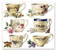 Sandy Clough Faith Teacups
