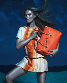 Versace spring/summer 2013 ad campaign featuring Kate Moss. Photographed by Mert & Marcus.