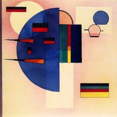 Kandinsky 'Calmed' 1931 Watercolor and pen and ink on paper 13 x 15 Wassily Kandinsky, Abstract Words, Abstract Art, Abstract Landscape, Art Moderne, Art Abstrait, Bauhaus, Russian Art, Klimt