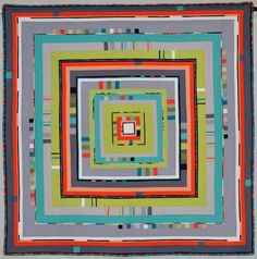 """City Center"" by Angie Henderson, in The Modern Quilt Guild Showcase at the 2014 Houston International Quilt Festival"