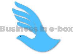 Blue dove. A logo for your business. https://www.facebook.com/businessinebox