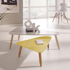 Beda Nest of Tables in Yellow