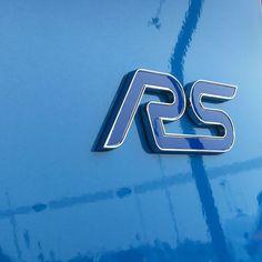 Take a closer look.  #NitrousBlue #RS #RSBadge #FordFocus #FordFocusRS #FocusRS #Ford #Car #Driving #MondayMotivation
