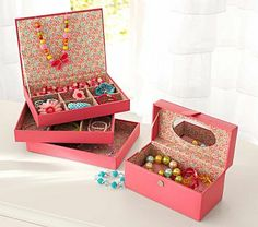 Kids Storage Sparkle Jewelry Boxes in Room Dcor The Land of Nod