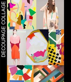 Decoupage Collage #fashion #collage #moda #style #trends