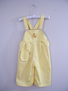 Joey!!!!!  Vintage 1960s Child's Overalls / Mouse Embroidery