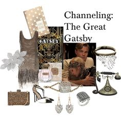 """Channeling: The Great Gatsby"" by zunigainteriors on Polyvore"