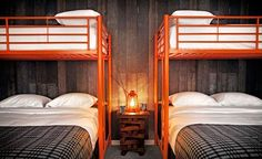 Basecamp South Lake Tahoe is a boutique hotel built for exploring the incredible lakes, trails, and mountains in the Lake Tahoe Basin. Located in the heart of South Lake Tahoe, Basecamp is a short … Home, Bunk Beds, Space Hotel, Bed, Tahoe Hotels, Bedroom Orange, Bunks, Ski Cabin, Hotels Room