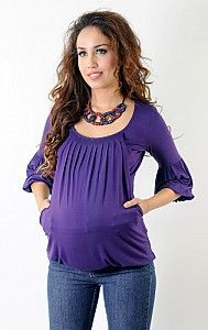 Annee Matthew Womens Eggplant Bubble Maternity Nursing Top Size S-XL Maternity Stores, Maternity Wear, Maternity Fashion, Maternity Nursing, Pregnancy Fashion, Pregnancy Wardrobe, Pregnancy Shirts, Nursing Tops, Bubble