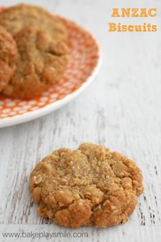 The Best Thermomix ANZAC Biscuits you will ever make Bake Play Smile Biscuit Cookies, Biscuit Recipe, Tea Cakes, Delicious Desserts, Dessert Recipes, Yummy Food, Biscotti, Bellini Recipe, Anzac Biscuits