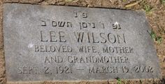 Tombstone Tuesday: Lee Urbass Wilson #genealogy #familyhistory