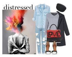 """Distressed"" by elza-345 ❤ liked on Polyvore featuring Topshop, Rails, Les Petits Joueurs, Givenchy and Étoile Isabel Marant"