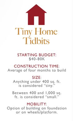 Tiny home facts.