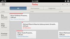 Schedule — Landscape iPhone UI / Brian Benitez