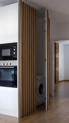 Trendy Home Interior Doors Cabinets Kitchen Room Design, Laundry Room Design, Laundry In Bathroom, Interior Design Living Room, Laundry Closet, Design Bedroom, Küchen Design, House Design, Door Design