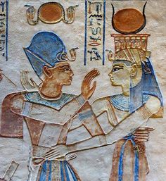 Ramesses III and Isis in the tomb of Amenherkhepshef.