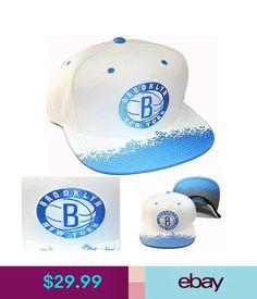 Hats Mitchell & Ness Nba Brooklyn Nets Snapback Hat White Cap With University Blue #ebay #Fashion