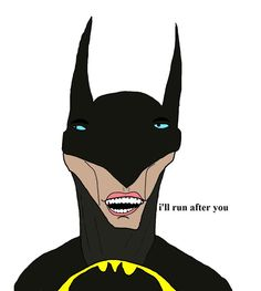 Batman by Chris (Simpsons artist) Stupid Funny Memes, Wtf Funny, Funny Dogs, Hilarious, Funny Stuff, Chris Simpsons Artist, Reaction Pictures, Funny Pictures, Funny As Hell