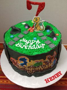 Dragonvale cake for a precious 7 year old!