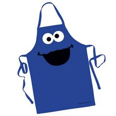 Blue Cookie Monster Big Face Apron by Sesame Street Dress Up Aprons, Cute Aprons, Sewing Hacks, Sewing Projects, Blue Cookies, Childrens Aprons, Blue Apron, Sewing Aprons, Kids Apron