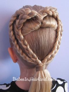 2 Braided Hearts | Valentines' Hairstyle
