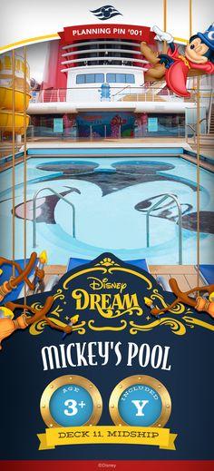 Disney Cruise Line Planning Pins | Disney Dream: Mickey's Pool