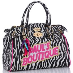 dcf17a9eb5 Paul s Boutique Black White Zebra Twister Shoulder Bag