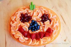 cute & healthy snack plate for a Halloween party