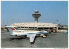 AVIATION CIVILE - ANNÉE: ENV. 1975 - AVION sur L´ AÉROPORT ZVARTNOTS de EREVAN -
