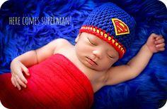 Newborn Photo Prop Baby Boy Superman Hat by MitziKnitz on Etsy, $23.00