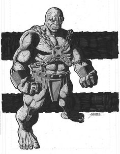 Blok - Legion of Super-Heroes commission by George Perez Dc Comics Characters, Fantasy Characters, Fictional Characters, Comic Art, Comic Books, Legion Of Superheroes, George Perez, Fantasy Fiction, Classic Comics