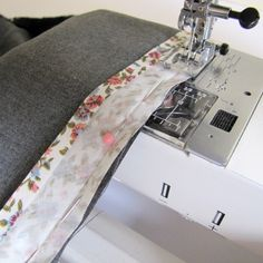 Many of you have problems catching the back when sewing bias on so Ill show you a trick so that it catches every time.