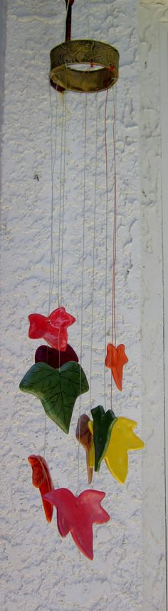 Ceramic Autumn Leaves Chimes | All Fired Up in Florida