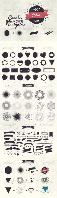 Badge Creator Kit - Decorative Vectors #WebDesign #GraphicDesign #Print