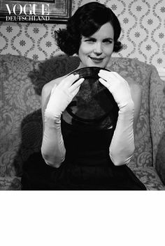 Downton Abbey's Elizabeth McGovern for Vogue Germany. Photographed by Bruce Weber.