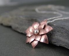 Poinsettia copper pendant Holiday Jewelry by HapaGirls on Etsy barneykh
