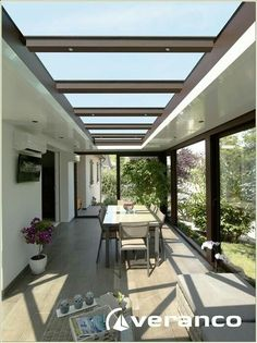 New garden patio roof kitchen extensions Ideas Pergola With Roof, Pergola Shade, Patio Roof, House Extension Design, Roof Lantern, House Extensions, Kitchen Extensions, Marquise, Architect Design