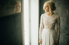 Lovely Bride lace wedding dress