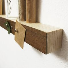 Magnetic walnut wood shelf by falcoshop on Etsy, €32.00