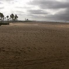 Beach side of morning in Port Hueneme.