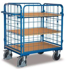 GTARDO.DE:  Etagenwagen niedrig, vergittert, Tragkraft 500 kg, Ladefläche 1000 x 600 mm, Maße 1189 x 647 x 1216 mm, Rad 200 mm 337,00 €